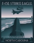 f-15e strike eagle outer banks north carolina poster