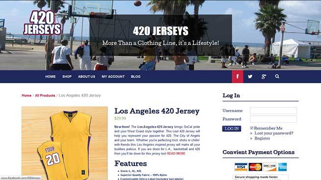 420 jerseys website screenshot