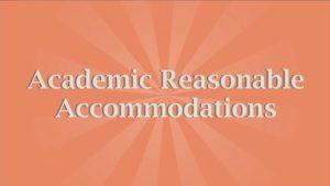 academic accommodations for educators